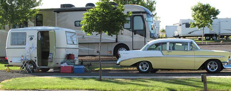 Classic Car and Camper
